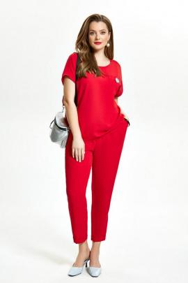 Женский костюм TEZA 1475 красный