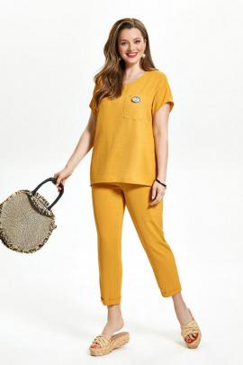 Женский костюм TEZA 1475 желтый