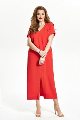 Платье TEZA 1489 красный