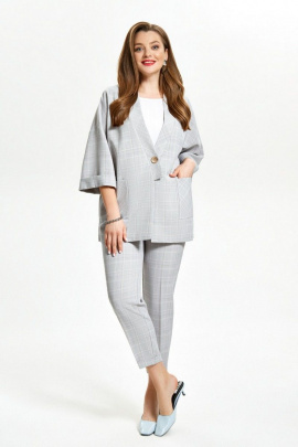 Женский костюм TEZA 1516 серый