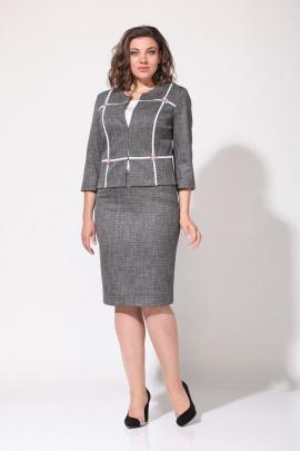Женский костюм Lady Style Classic 1401/1 серый-красный