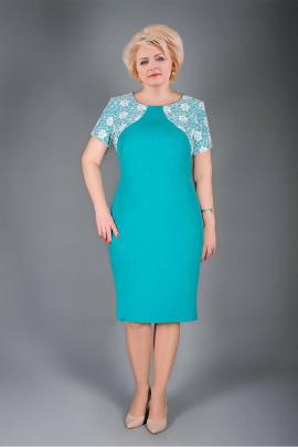 Платье Manklover 971 бирюза