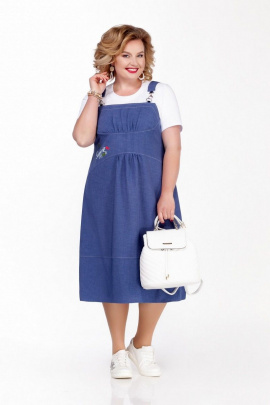 Сарафан, Майка Pretty 1129 синий-белый