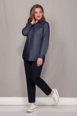 Рубашка Ивелта плюс 895 синий