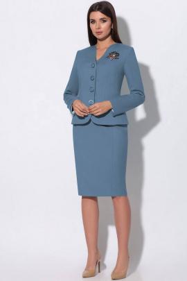 Женский костюм LeNata 23865 темно-голубой