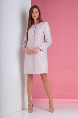 Жакет Viola Style 6027 светло_серый_розовый