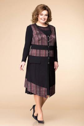 Платье, Жилет Romanovich Style 3-1261 черный/бордо