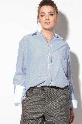 Рубашка SOVA 11106 голубая_полоска