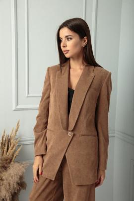 Жакет SandyNa 13828 песочно-коричневый
