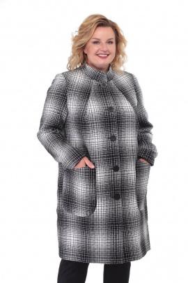 Пальто БелЭльСтиль 786 серый-клетка