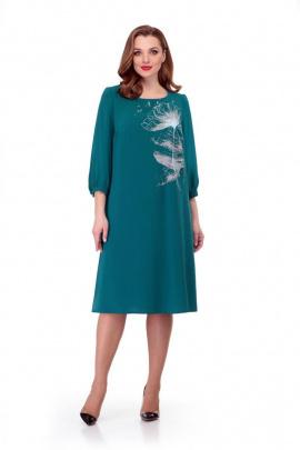 Платье Мишель стиль 888 изумруд