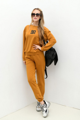 Спортивный костюм Andrea Fashion AF-61 горчица