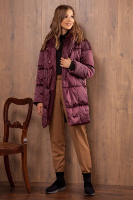 Пальто Nova Line 10059 марсала