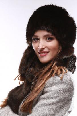 Шапка Зима Фэшн 012-1-03 коричневый_под_норку