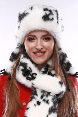 Шапка Зима Фэшн 012-1-10 черно-белый_под_норку