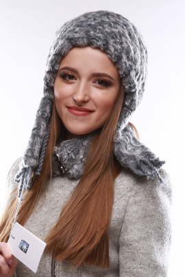 Шапка Зима Фэшн 022-3-12 серый_под_каракуль