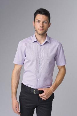 Рубашка Nadex 363014И_182 бело-сиреневый