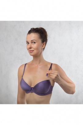 Бюстгальтер Verally 230-7 пурпурный-вельвет
