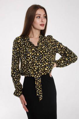 Блуза Madech 202259 черный,желтый,белый