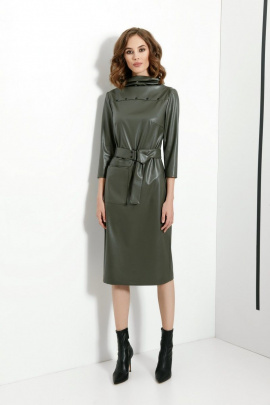 Платье DiLiaFashion 0395 хаки