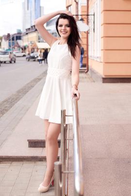 Платье Lady Line 423 молоко