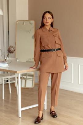 Женский костюм Temper 362 коричневый