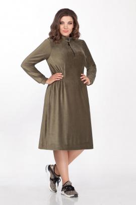 Платье Anna Majewska 1415 болотно-оливковый