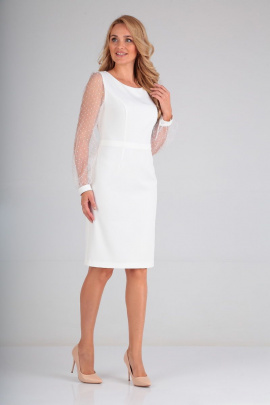 Платье Lady Line 488 молочный