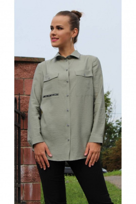 Блуза Arisha 2024 оливковый