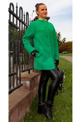 Пальто Arisha 8045 зеленый