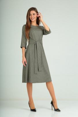 Платье Karina deLux B-170 черно-оливковый