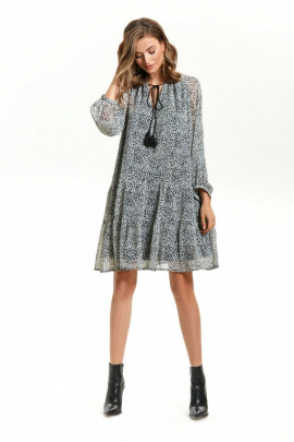 Платье TEZA 1432 серый_пятна