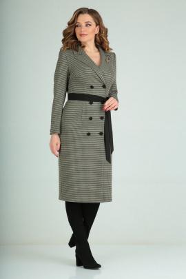 Платье Karina deLux B-344А черно-оливковый