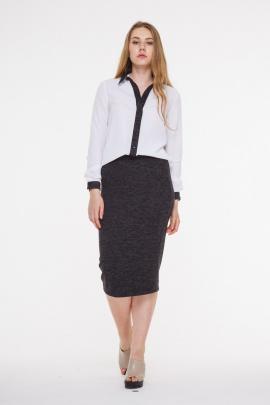 Рубашка AMORI 6113 белый+меланж