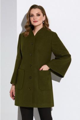 Пальто Lissana 4163 темно-оливковый