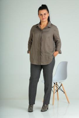Рубашка Ma Vie М551 коричневый