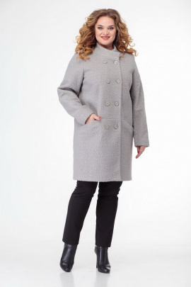 Пальто БелЭльСтиль 766 светло-серый