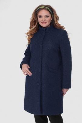 Пальто БелЭльСтиль 786 темно-синий+стойка