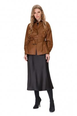 Юбка, Рубашка PiRS 1536 карамель+черный