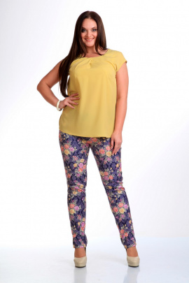 Брюки, Блуза Liona Style 443 желтый