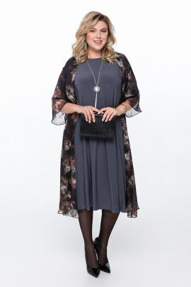 Платье, Накидка Pretty 1195 графит-черный