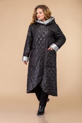 Пальто Svetlana-Style 1459 черный+серый
