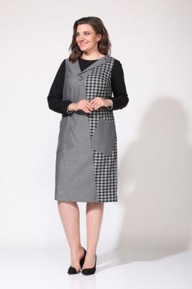 Сарафан, Джемпер Lady Style Classic 2168 серый-черный