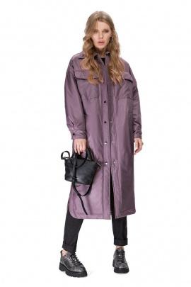 Пальто PiRS 1678 серо-фиолетовый