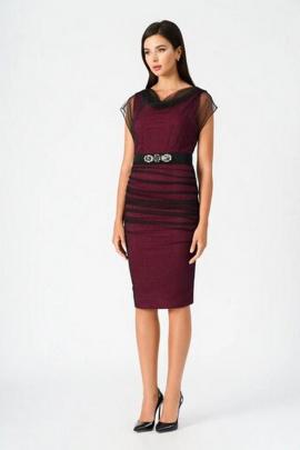 Платье Vladini 4123 бордо