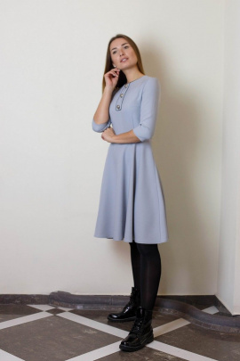 Платье VG Collection 183 серо-голубой