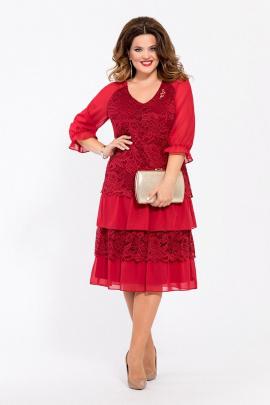 Платье TEZA 1464 бордо