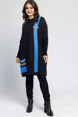 Платье Bonadi 1245 антрацит-небо