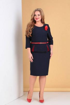 Платье Moda Versal П2061 т.синий+красный