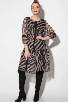 Платье SOVA 12002 черный-беж